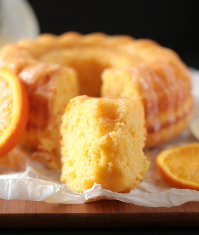 Bizcocho de naranja sin yogur